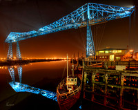 Transporter Bridge, Middlesborough, UK,