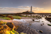 St Mary's Lighthouse Sunrise No# 1, Whitely Bay, North East, UK.